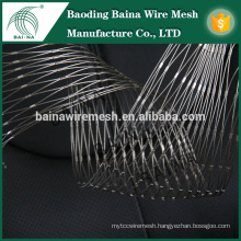 stainless steel wire cable mesh net/stainless steel wire rope knot mesh made in china