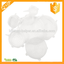 Couvercle de récipient de stockage de silicone extensible et extensible au lave-vaisselle
