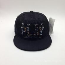 Nuevo sombrero de la manera del bordado de la malla del carácter (ACEW154)