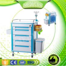 Carros de reanimación anti-corrosión y anti-corrosión para el hospital