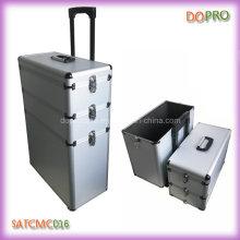 Étui en chariot à maquillage en aluminium sur mesure pour styliste (SATCMC016)