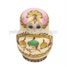 Brinquedos artesanais de madeira da boneca de Rússia da forma