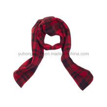 Promoción Invierno cálido tejido de punto polar impreso bufanda