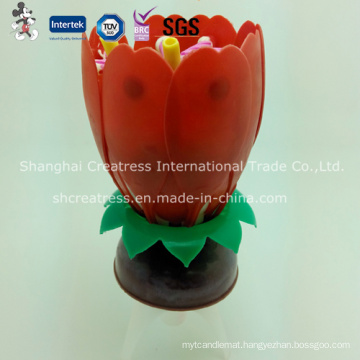 High Quality Rotating Lotus Candle