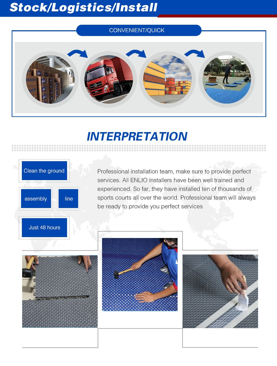 Outdoor basketball court tiles FIBA