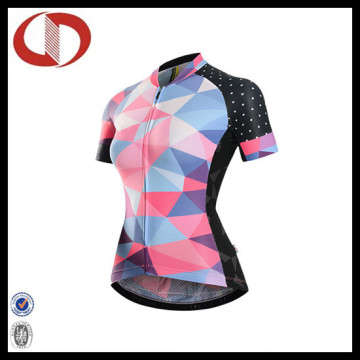 High Quality Custom Impresso Sportswear Ciclismo Jersey para as Mulheres