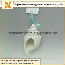 Pendentif blanc à la main en céramique série océan (décoration de jardin)