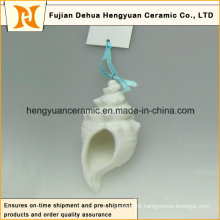 Handmade Ceramic Ocean Series White Pendant (garden decoration)