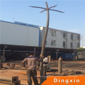 3m Garden Steel Lighting Pole with Single Arm, Double Arms, Four Arms
