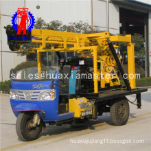 HuaxiaMaster supply tricycle-mounted XYC-200A core drilling machine/hydraulic rotary water well drill rig easy operated
