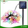 La ficelle décorative de libellule de lumière de bande de l'arbre de Noël LED allume la lampe solaire colorée de chaîne 20LED / 30LED pour le festival