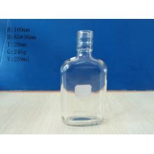 Flat Shape Glass Bottles 260ml