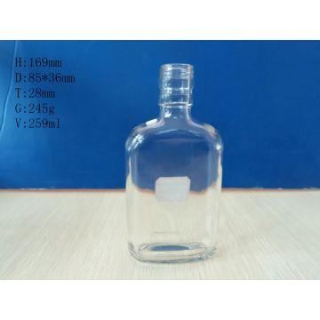 Flat Shape Glass Bottles 260ml