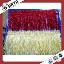 Franja de borla de cortina decorativa, escova de franja barata
