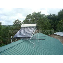 Integrated Al-alloy pressurized solar water heater