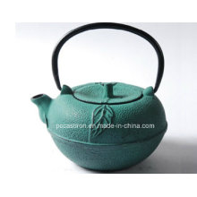 Embossed Cast Iron Teapot 0.8L