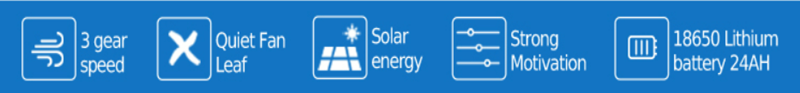 Rechargeable solar fan 12