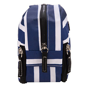 Mais novo Stripe Multi Compartimentos Toiletry Cosmetic Bags