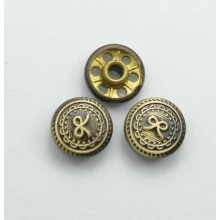 Bronze tone various patterns vintage jeans tack buttons wholesale