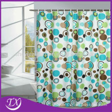 polyester bright color extra long shower curtains