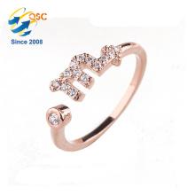 Meilleur cadeau bijoux en argent douze constellations Scorpion anneau de chance pour petite amie