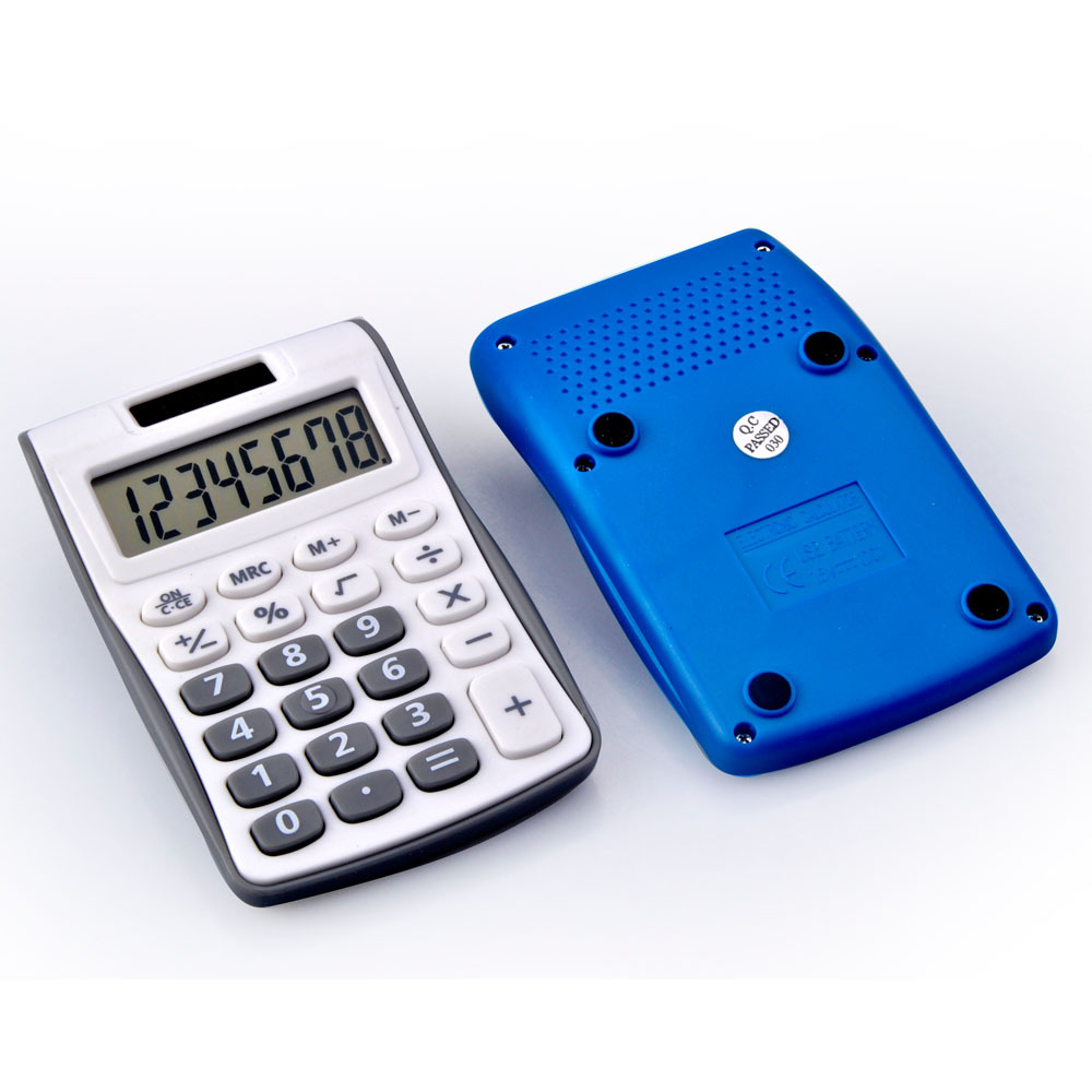 8 digits small pocket dual power calculator