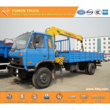 Dongfeng 5tons 4*2 crane truck straight arm