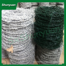 PVC Coated Barbed Wire From Anping shunyuan Wire Mesh Co,.Ltd.
