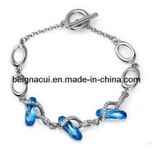 Sw Elements Crystal Aquamarine Color Unique Bracelet Jewelry