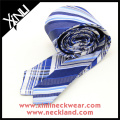 Reversible Plaid Stripes Cheap China Silk Necktie