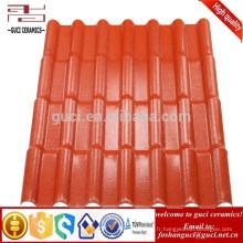Tuile légère de toit de résine de Syntheticr de surface d'ASA MaterialEmboss10-30 ans de garantie