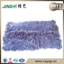 Gros nouveaux cheveux longs bouclés agneau tibétain mongol agneau plaque de fourrure