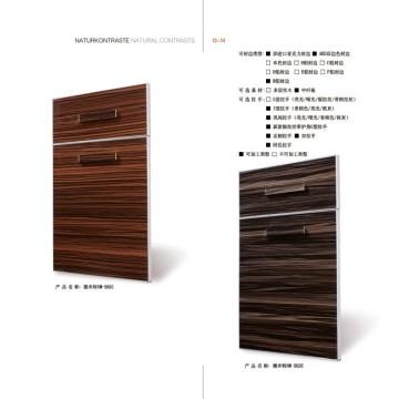 Anti Scratch MDF Kitchen Cabinet Doors with Handles (zhuv)