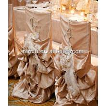 Fancy chiavari wedding ruffled chair covers,chair covers for weddings with ruffles
