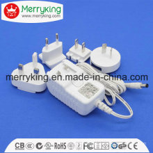 12V1a AC/ DC Power Adaptor with Exchangeable AC Plugs with UL FCC Ce SAA PSE GS DOE VI Cert