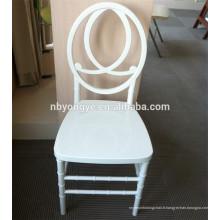 Chaise en résine blanc phoenix pour mariages
