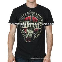 Benutzerdefinierte Baumwolle Mode Siebdruck Rundhals Sommer T-Shirt
