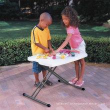 Material plástico e mesa ao ar livre Conjunto de cadeira de mesa para crianças