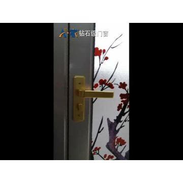 Customized Aluminium flush casement glass Door price for House