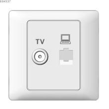 TV  and computer socket