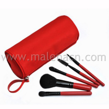 Travel 5PCS Makeup Brush with Fabric Roll