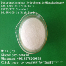 API cru super do Monohydrate CAS 6700-34-1 / 125-69-9 do hidrobrometo do hidrobrometo de alta pureza Dextromethorphan