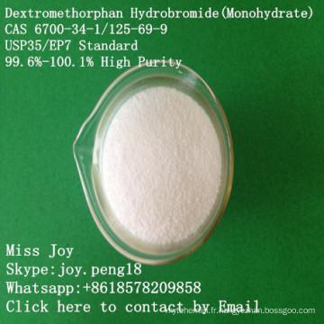 Monohydrate CAS 6700-34-1 / 125-69-9 de monobrate de bromhydrate de Dextromethorphan de grande pureté élevée