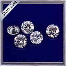 Vvs Clear White 6mm Forever Brillant Moissanite pour bijoux de luxe