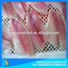 La société de fruits de mer fournit divers filets de tilapia congelés