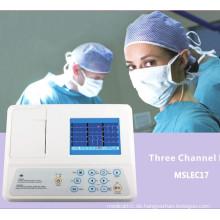 CE-geprüfte 3-Kanal-EKG-Maschine mit 12 Blei (MSLEC17)