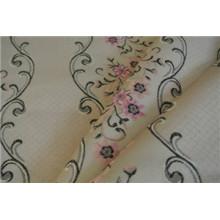 Tissu jacquard polyester 1006 sur 1006 1005 sur base satinée (FHT32005B)