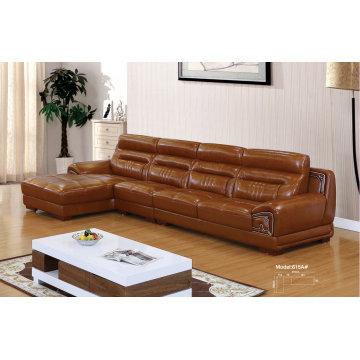 Mobília de sala, móveis de couro, sofá, sofá de couro seccionais (615) de canto