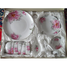 29PC Bone China Style Dinner Set with Full Decal (BC-002)