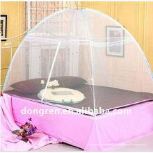 Nettoyeur de lit pliable Canopy Moustiquaire avec dentelle Mosquito Net pour lit queen